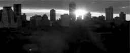 Silueta de Nueva York en blanco y negro